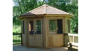 12 foot enclosed octagon gazebo better gazebos