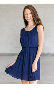navy blue summer juniors dress cute navy sundress lily boutique