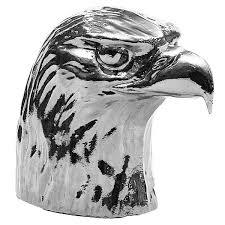 chrome american bald eagle semi ornament iowa80