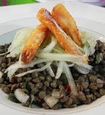cuisine antillaise cuisine antillaise salade de lentilles morue frite