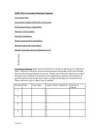 curriculum planning template elementary organization two updated