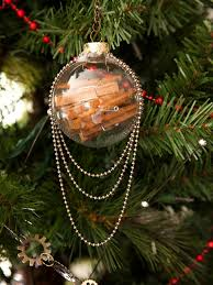 steampunk christmas decorations clear glass ornaments ornament