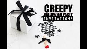 halloween party invitations creepy youtube