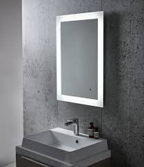 Backlit Mirrors Bathroom Brilliant Backlit Mirror Of Powder Room Contemporary Denver Home