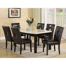 7pc Dining Room Sets Inspiring Black 7 Piece Dining Set 8 Black And Brown Dining Room