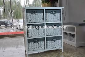 White Wicker Bathroom Drawers Wholesale White Wooden Storage Bathroom Cabinet With Wicker Basket