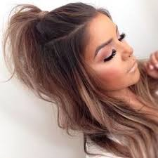 hair styles in two ponies best 25 half ponytail ideas on pinterest half up half down