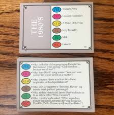 trivial pursuit 80s trivial pursuit the 80 s special edition cards vintage