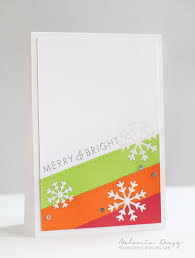 non traditional colors christmas cards embedded snowflakes die