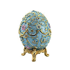 classic crystal ring holder images Blue flowered faberge egg with stand and ring insert jpg