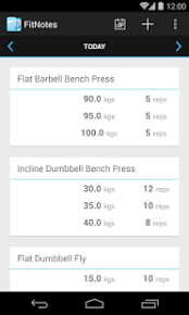 fitness tracker app for android fitnotes workout log android apps on play