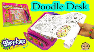 shopkins coloring pages videos shopkins doodle desk with coloring crayons markers art set