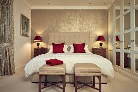 bedroom inspiring bedroom design stylish bedroom decor brown inspiring bedroom design stylish bedroom decor brown leather benchess white blanket red pillows red desk lamps grey platform bed grey fabric headboards