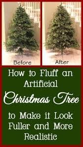 diy flocked tree artificial tree flocked