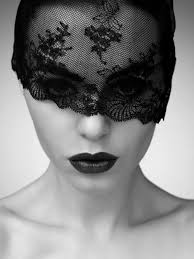 lace mask pin by fénia on black white wide