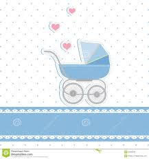 Baby Shower Card Invitations New Baby Boy Shower Invitation Card Royalty Free Stock Image