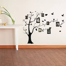 family tree wall decal sticker promotion shop for promotional black photo frame family tree removable pvc wall decal sticker room home diy decoration 50 70cm