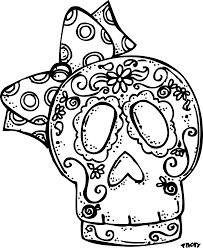 day of the dead skull coloring pages shimosoku biz
