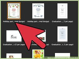 design invitations how to make invitations on microsoft word 10 steps