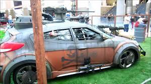 zombie survival truck hyundai zombie survival machine l a auto show 2013 youtube