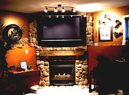 decor ideas brick fireplace with mounting tv above and surripui net