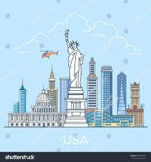 usa united states country design template stock vector 588459797