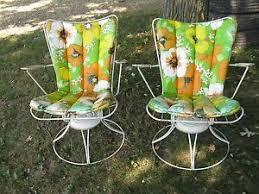 Homecrest Outdoor Furniture - pair vintage homecrest swivel rocker chair mid century modern