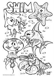 ocean animals coloring pages getcoloringpages com