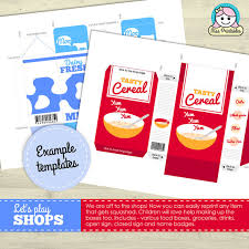 food packaging printable for children u0027s pretend play