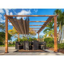 stc 11 ft x 11 ft aluminum catalina pergola pr100n1 the home depot