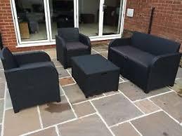 Garden Armchairs Allibert Keter Carolina Rattan Garden Furniture Set Anthracite G