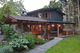 outdoor living house plans back outdoor living area transitional landscape vancouver