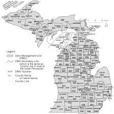 State Of Michigan Map by Michigan Deer Harvest Survey Dmu Map Key