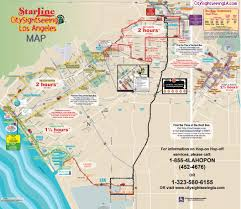 Los Angeles Maps by City Sightseeing Hollywood Hop On Hop Off Tour Tour Los Angeles