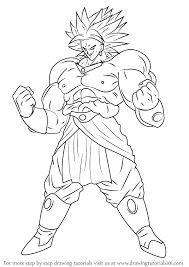 learn draw broly dragon ball dragon ball step