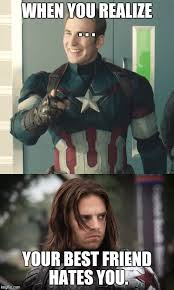 Winter Soldier Meme - bucky doesn t like you anymore imgflip