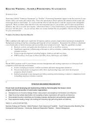 Sample Resume With Summary Statement by Resume Branding Statement Examples Template Examples