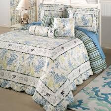 Cotton Quilted Bedspread Ocean Treasures Coastal Oversized Quilted Bedspread