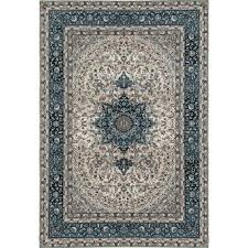 10x10 Area Rugs World Rug Gallery Traditional High Quality Blue Medallion