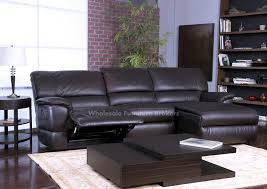 Grey Leather Reclining Sofa by Latest Reclining Leather Sectional Sofa Divani Casa E9054 Modern