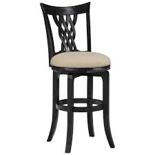 armen living boston swivel bar stool black 30 in hayneedle
