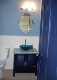 bathroom cool blue themes small bathroom designs with oval wall