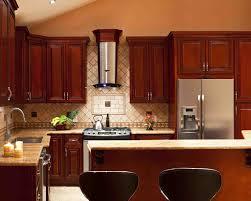 Kitchen Backsplash Cherry Cabinets Kitchen Pictures