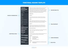 functional format resume template resume formats the best one in 3 steps exles templates