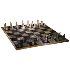 Chess Board Design Australian Pottery U0027medieval U0027 Chess Set By David And Hermia Boyd