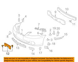 lexus es 350 price in saudi arabia lexus oem 5211433250 10 12 es350 front license plate bracket 52114