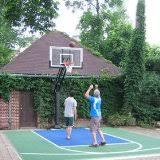 Backyard Basketball Half Court Basketball Court Size