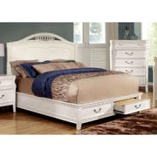 White Queen Platform Bed With Storage White Queen Storage Bed