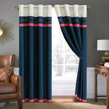 Navy And White Drapes Navy Blue Tier Curtains
