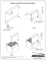 imperial convection oven pilot light owners manual installation operation maintenance instructions